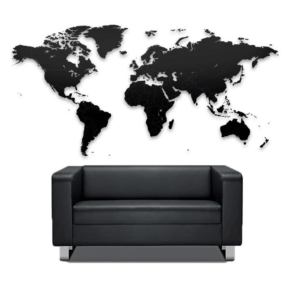 Geograficzna mapa świata w skali -puzzle.