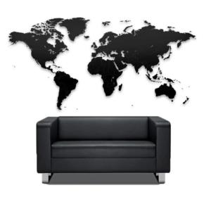 Geograficzna mapa świata w skali - puzzle.