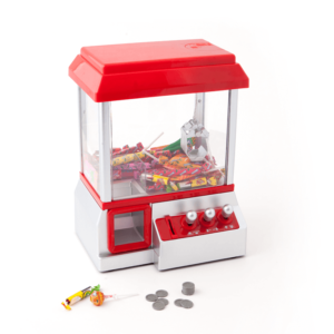 Maszynka do cukierków w kolorze czerwonym.