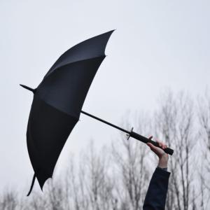 Parasol przypominający miecz samuraja.