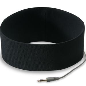 Opaska słuchawki w kolorze czarnym do biegania.
