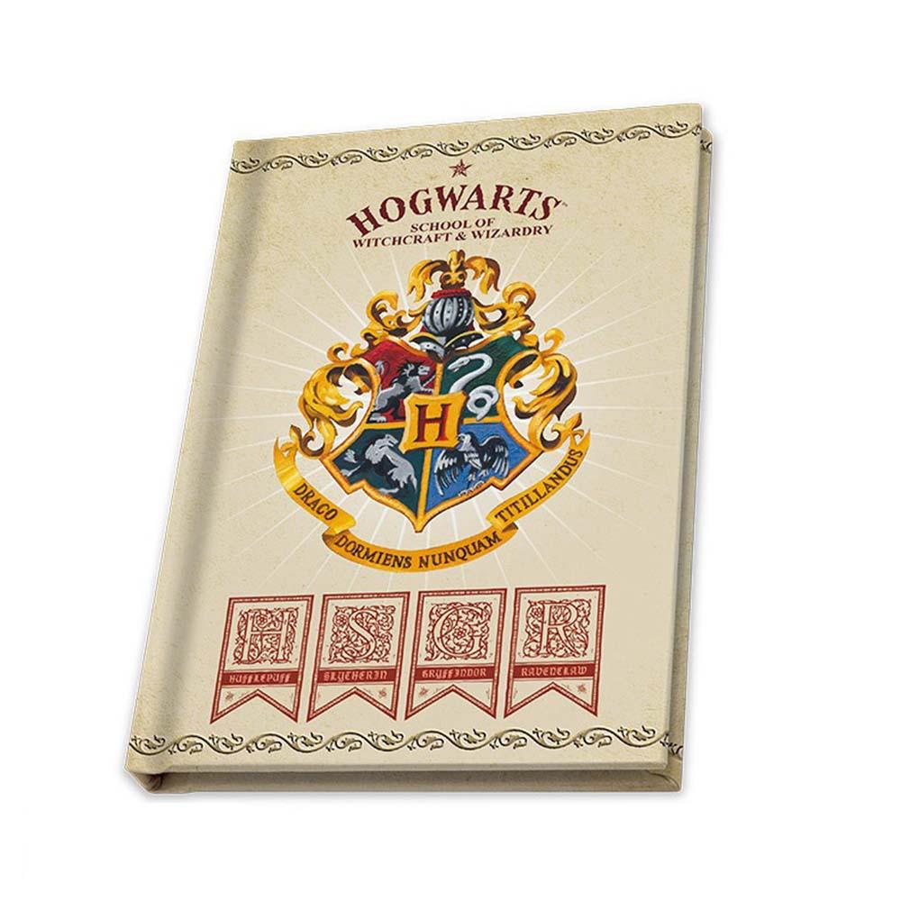 notes harry potter z logo hogwartu