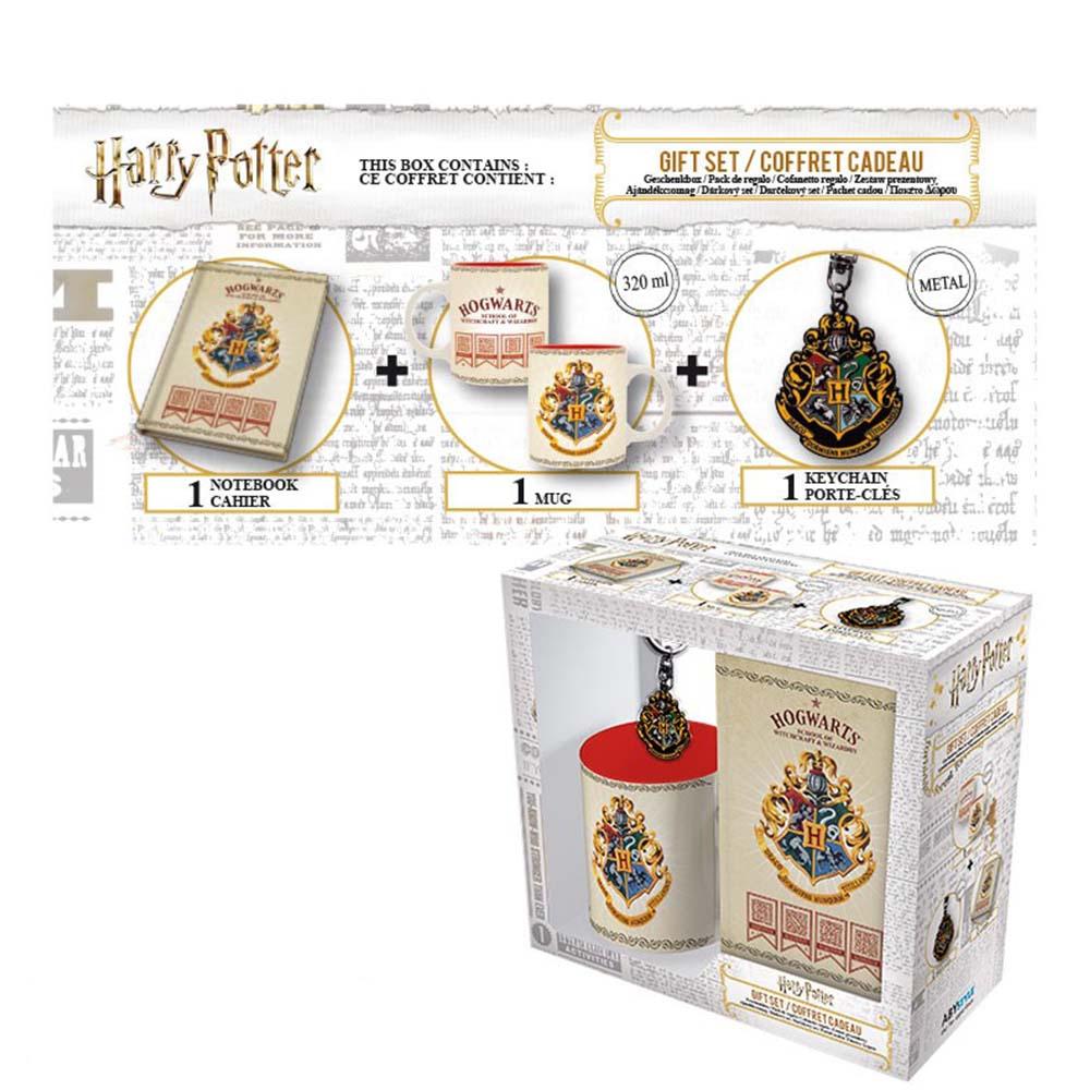 zestaw harry potter z herbem hogwartu